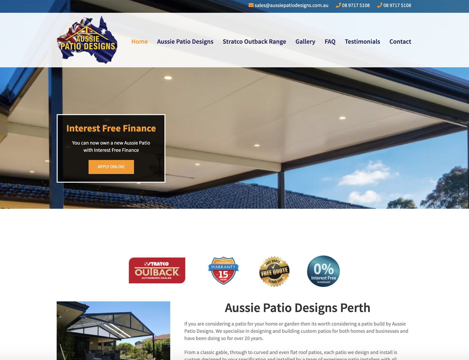 Home Amp Garden Microwebsites Perth